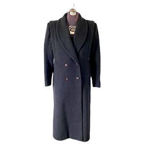 Vintage Cashmere & Wool Gray Overcoat Winter Coat